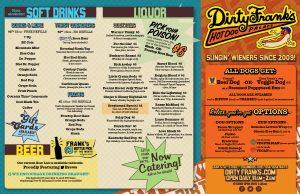 dirty franks hot dog palace full menu page 1